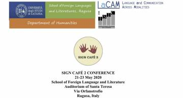 Sign Café 2 CONFERENCE, 21-23 May 2020